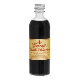 Extrait naturel de vanille Bourbon 200 ml. Elaboré par nos soins en France