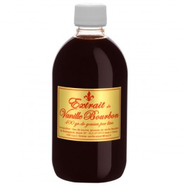 Extrait naturel de vanille de Madagascar 500 ml